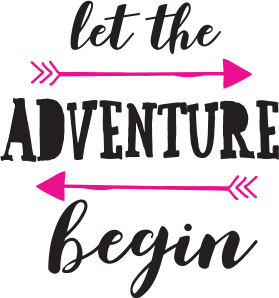 Let the adventure being logo