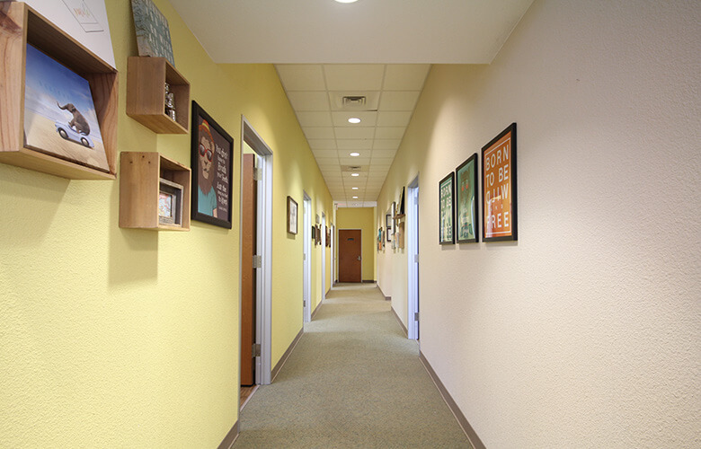 Hallway to front entrance
