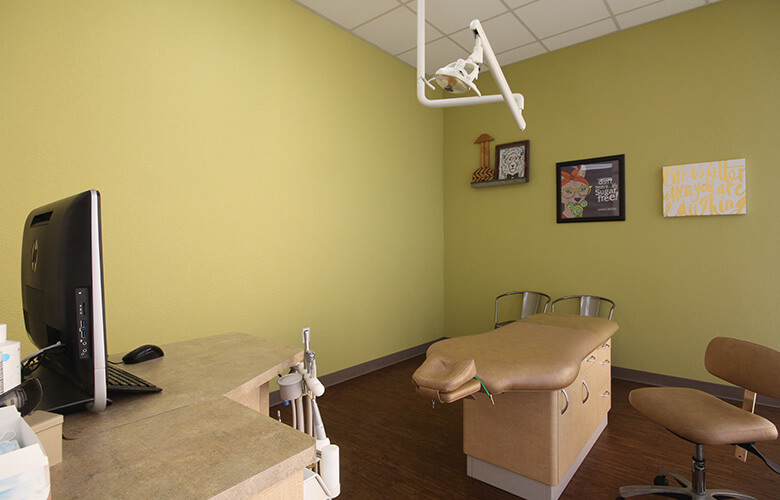Private patient treatment area
