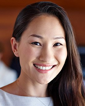 Woman with whole healthy smile