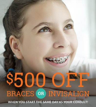 $500 off Invisaling or braces coupon